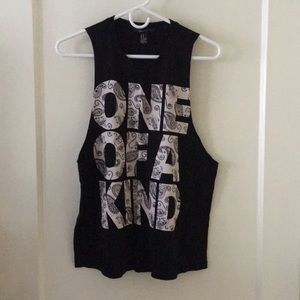 Forever 21 One of A Kind Black Women Tank Top